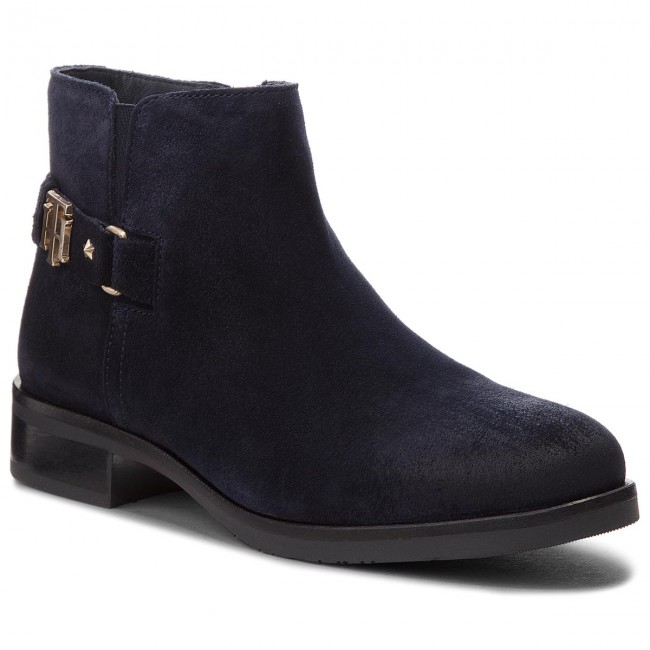 e50d878808e46 Botki TOMMY HILFIGER - Th Buckle Suede Boot FW0FW03129 Midnight 403 ...