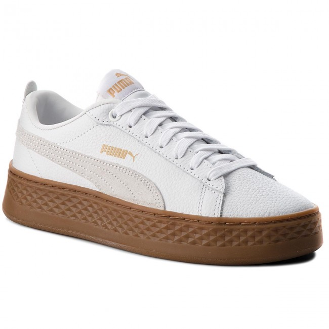low priced b769a 29d35 Sneakersy PUMA - Smash Platform L 366487 02 Puma White Puma White