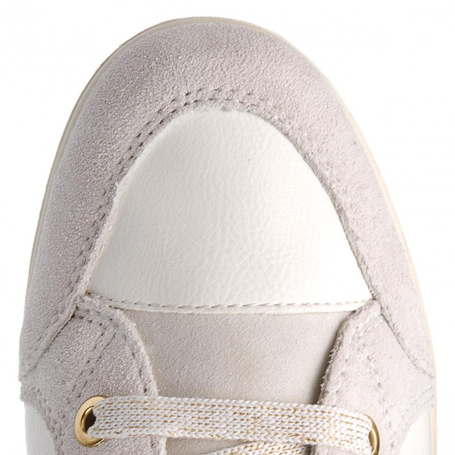Sneakersy GEOX D Myria C D6468C 0BC22 C1209 Off WhiteWhite