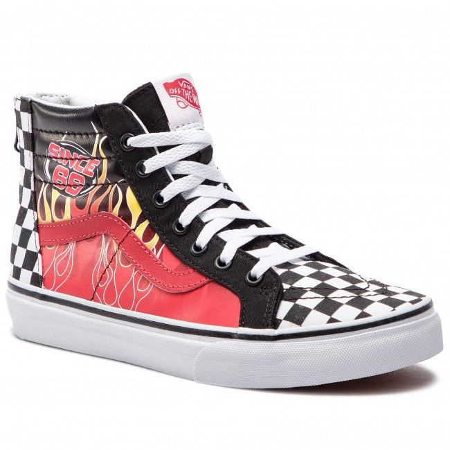 27c948df116f0 Sneakersy VANS - Sk8-Hi Zip VN0A3276UJ61 (Race Flame) Black/Racing ...