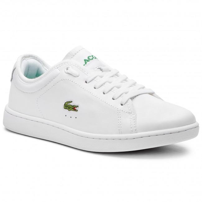 Sneakersy LACOSTE - Carnaby Evo 318 6 Spw 7-36SPW001421G Wht Wht ... a81f966c498