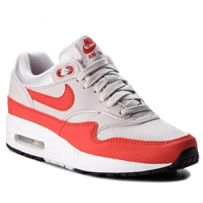 Buty NIKE - Air Max 1 319986 035 Vast Grey/Habanero Red - Sneakersy - Półbuty - Damskie