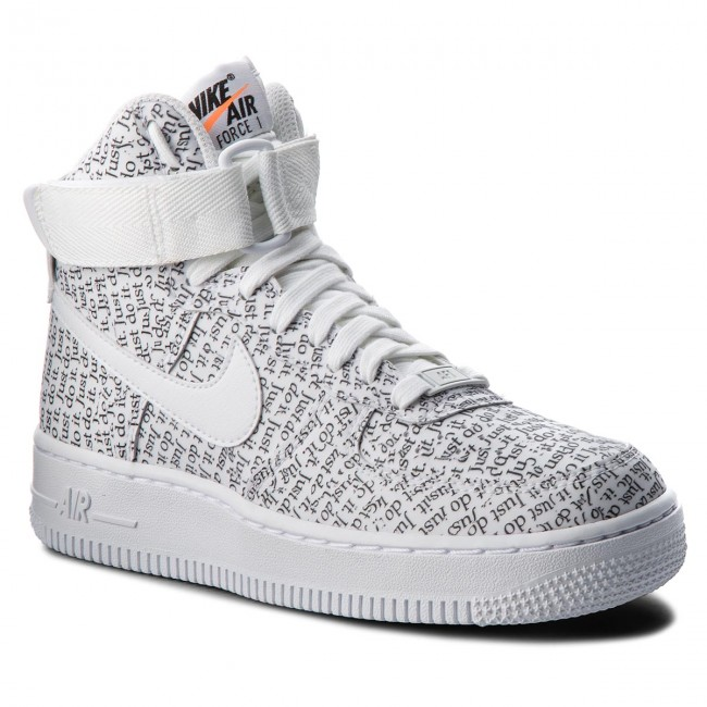 outlet store 5ac4f d074f Buty NIKE - Air Force 1 Hi Lx AO5138 100 White/White/White/Black ...