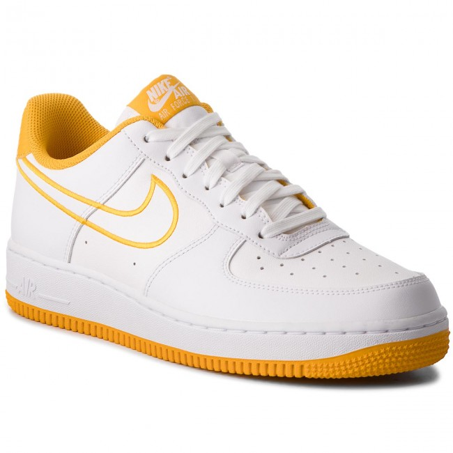 designer fashion c9bc0 f3b2e Buty NIKE - Air Force 1 07 Lthr AJ7280 101 WhiteYellow Ochre