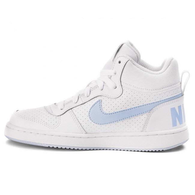 Buty NIKE Court Borough Mid (GS) 845107 103 WhiteRoyal Tint