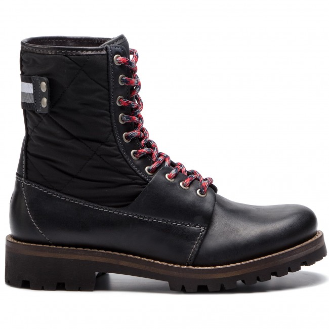 07ac16d0c1b12 Trapery TOMMY HILFIGER - High Material Mix Winter Boot FM0FM02017 Black 990