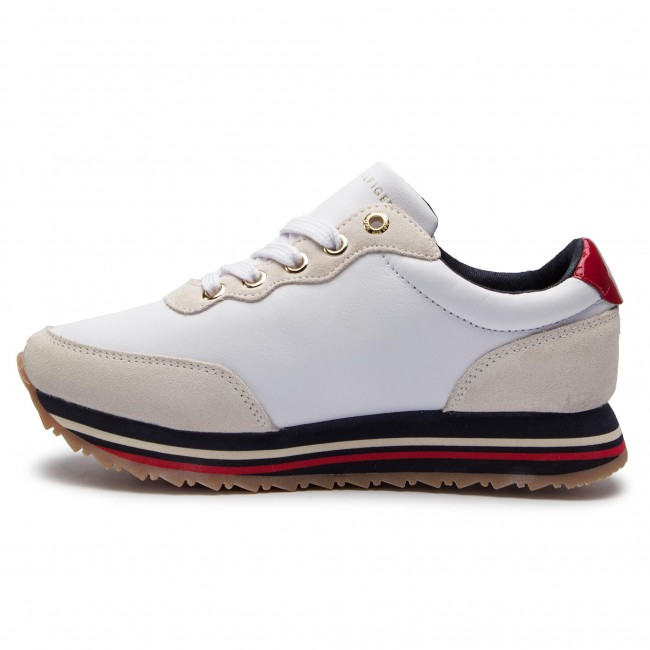 Sneakersy TOMMY HILFIGER Tommy Retro Runner FW0FW03690 White 100