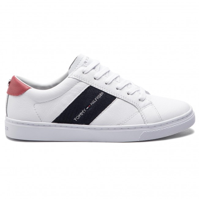153b2b9307aef Sneakersy TOMMY HILFIGER - Tommy Playful Badge Sneaker FW0FW03996 White 100