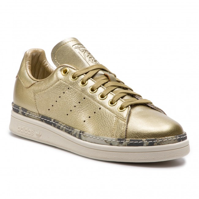 Buty adidas - Stan Smith New Bold W F34120 Goldmt/Goldmt/Owhite - Sneakersy - Półbuty - Damskie