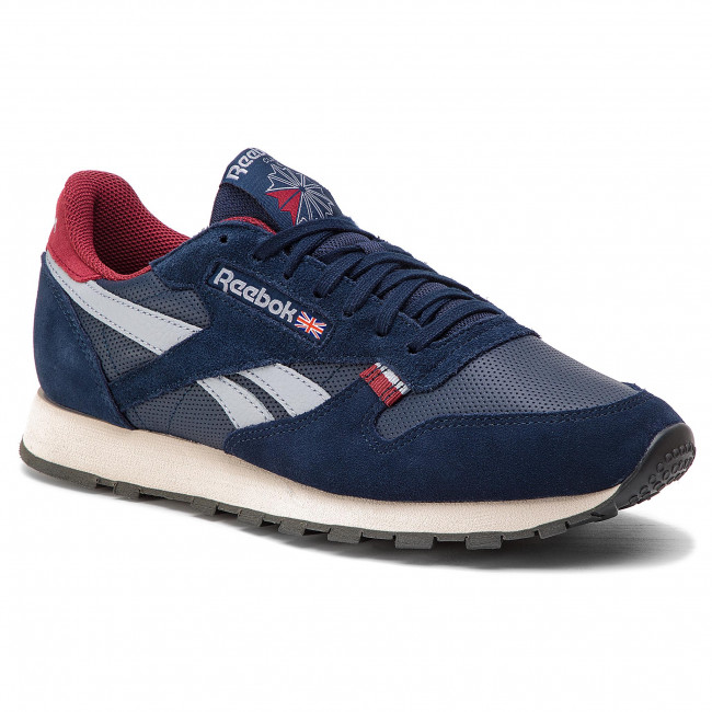 6fc8aa46fdf37 Buty Reebok - CL Leather Mu CN7178 Navy/Red/Stucco/Grey - Sneakersy ...