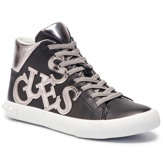 Sneakersy GUESS - Icon High FT6ICH LEA12 BLACK - Sneakersy - Półbuty ... 9e23557affc