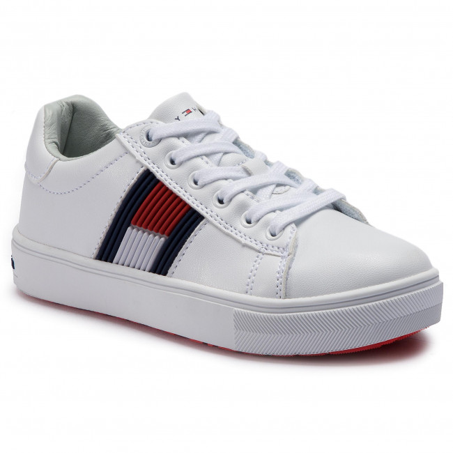 f627b387cc705 Sneakersy TOMMY HILFIGER - Low Cut Lace-Up Sneaker T3B4-30320-0625 M ...