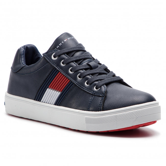 43a87b8ab79ff Sneakersy TOMMY HILFIGER - Low Cut Lace-Up Sneaker T3B4-30320-0625 D ...