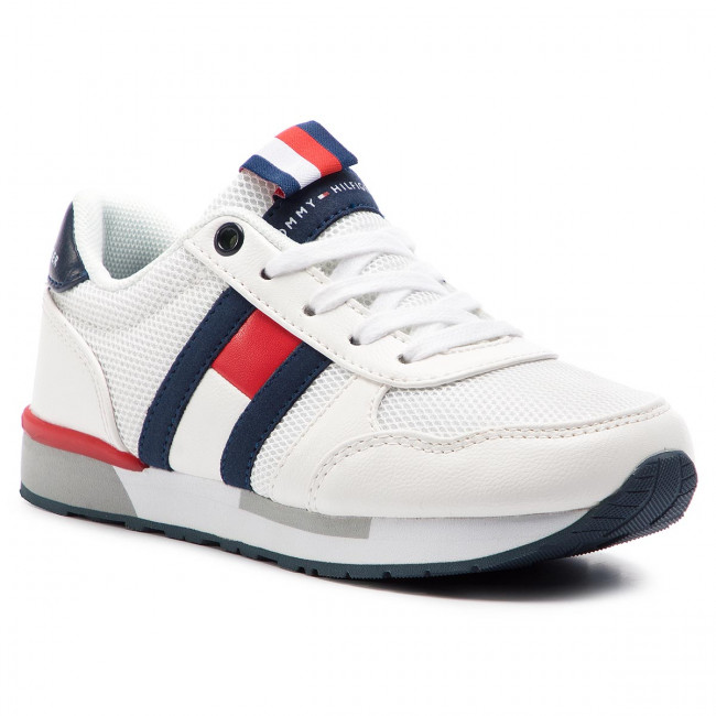 b3f89270f2446 Sneakersy TOMMY HILFIGER - Low Cut Lace-Up Sneaker T3B4-30343-0208 M ...