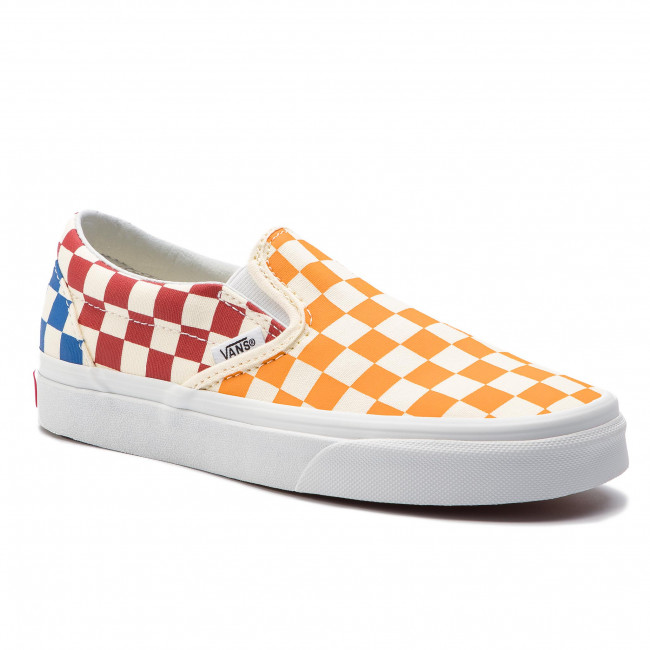 7851f3e7ee5e8 Tenisówki VANS - Classic Slip-On VN0A38F7VLV1 (Checkerboard) Multi/True