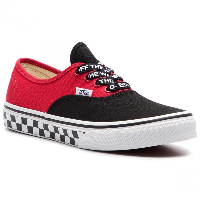 14b328361f3db Tenisówki VANS - Authentic VN0A38H3VI71 (Logo Pop) Black/True Whi ...