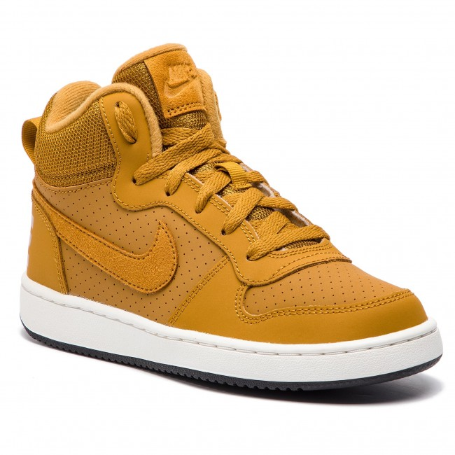 Buty NIKE - Court Borough Mid (GS) 839977 701 Wheat/Wheat/Summit White/Black - Sneakersy - Półbuty - Damskie