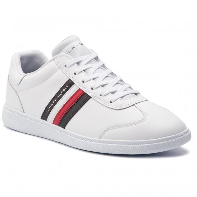 c018ba10244dd Sneakersy TOMMY HILFIGER - Essential Corporate Cupsole FM0FM02038 White 100