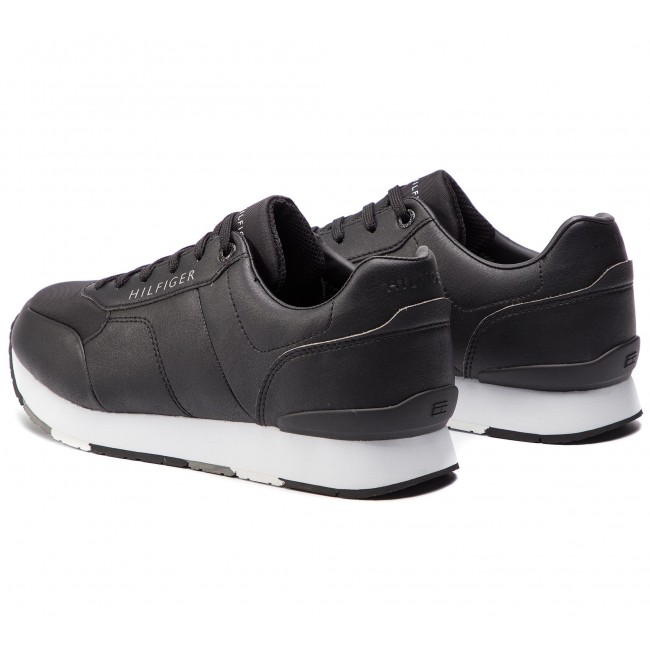 ae30a3538e Sneakersy TOMMY HILFIGER - Corporate Leather Runner FM0FM02057 Black ...