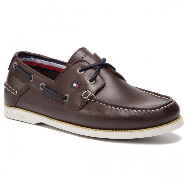 c5a43fba70fb8 Mokasyny TOMMY HILFIGER - Classic Leather Boatshoe FM0FM02102 Coffee Bean  212