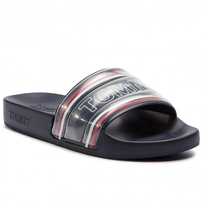 766a6d4c7 Klapki TOMMY JEANS - Pop Webbing Pool Slide EN0EN00471 Midnight 403 ...