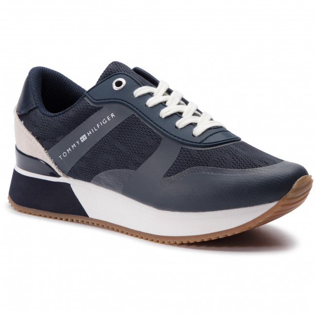 4e05c0c0c Sneakersy TOMMY HILFIGER - Tommy Jacquard City Sneaker FW0FW04026 Midnight  403