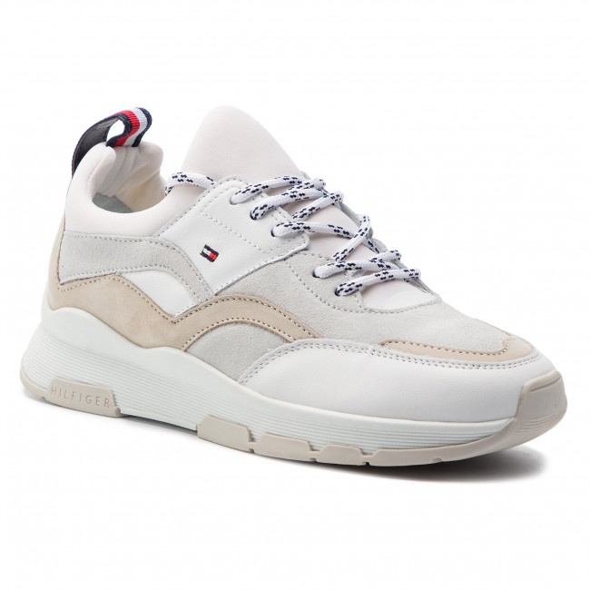 6cd5a00bd3430 Sneakersy TOMMY HILFIGER - Lifestyle Sneaker FW0FW04115 White 100 ...