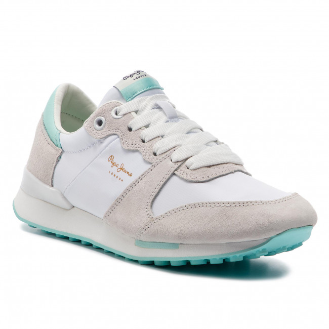 2fe9d30a681e2 Sneakersy PEPE JEANS - Bimba Soft PLS30861 White 800 - Sneakersy ...