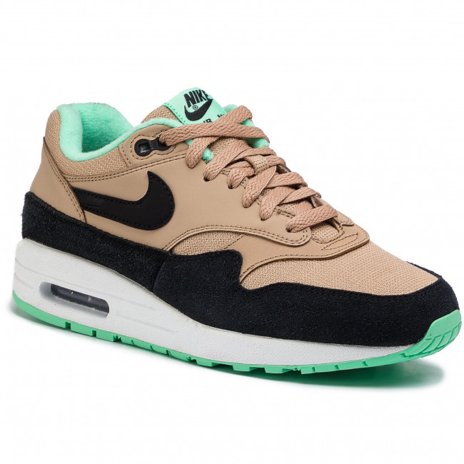 outlet store 711b4 5fb71 Buty NIKE - Air Max 1 319986 206 DesertBlack-Green Glow-White