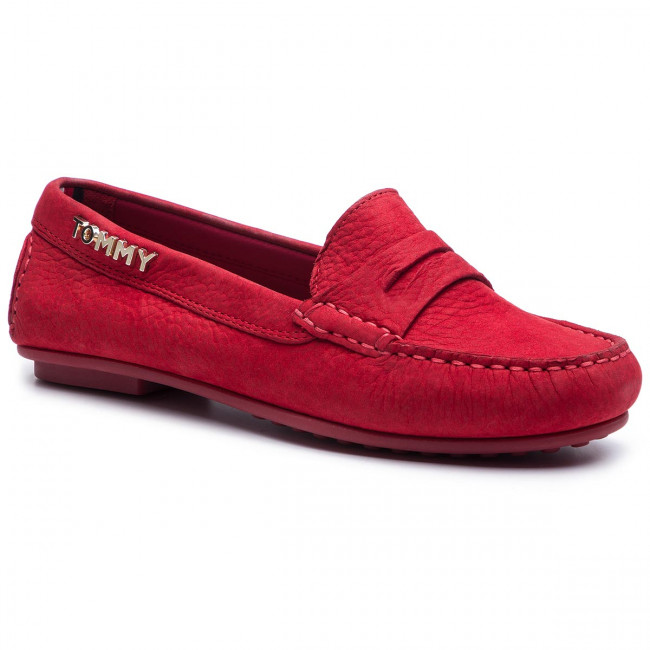 dba261a9f2ffe Mokasyny TOMMY HILFIGER - Colorful Tommy Moccasin FW0FW04398 Tango Red 611