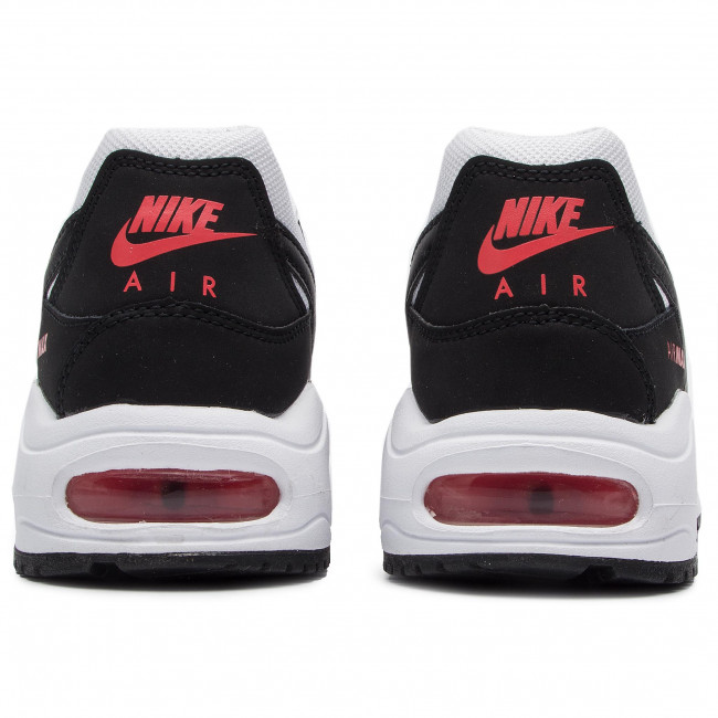 Buty NIKE Air Max Command Flex (GS) 844346 100 WhiteBlackMax Orange