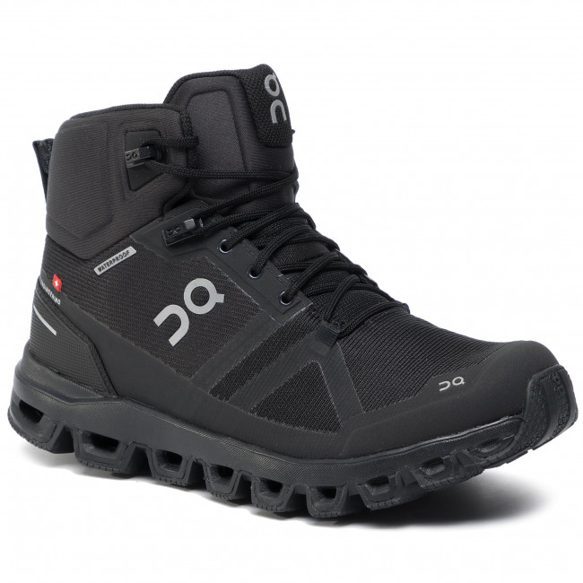 Buty ON - Cloudrock Waterproof 99851 All Black 23 - Trekkingi i trapery - Kozaki i inne - Damskie