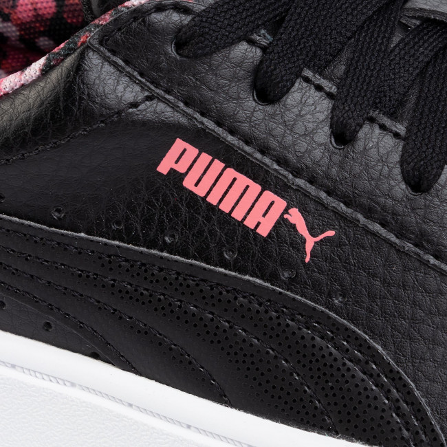 Sneakersy Vikky Stacked Neon Lights 370280 01 Black BlackCoral (Puma)