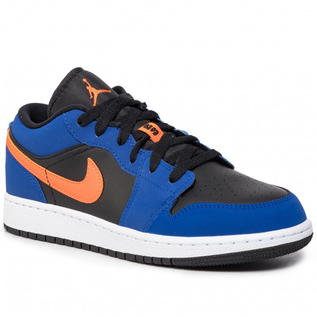 Buty NIKE - Air Jordan 1 Low (Gs) 553560 480 Rush Blue/Brillant Orange  - Sneakersy - Półbuty - Damskie