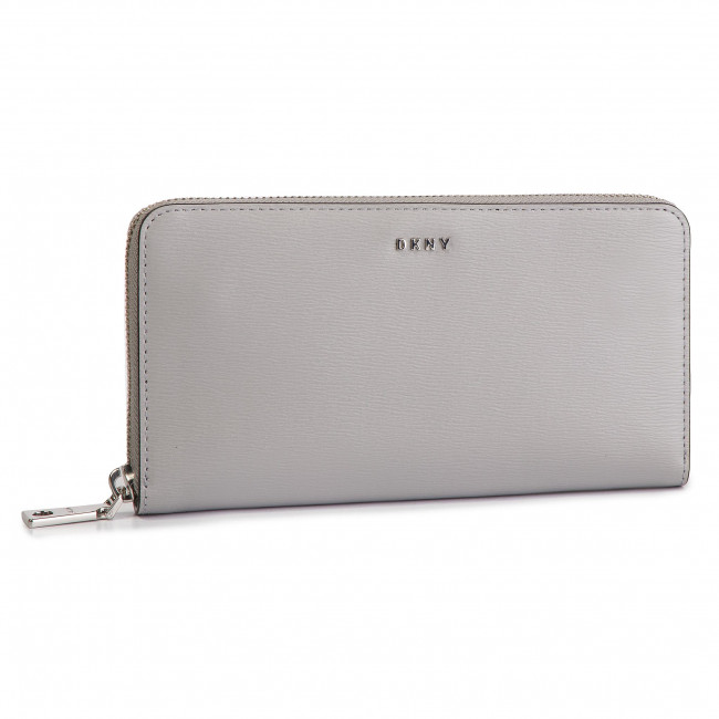 db7295e6a04b2 Duży Portfel Damski DKNY - Bryant New Zip Around R8313658 Grey Melange GRG