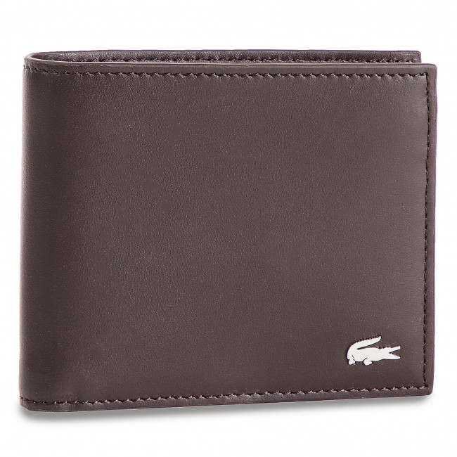 bdc564384daaf Duży Portfel Męski LACOSTE - Large Billfold   Coin NH1112FG Dark Brown 028