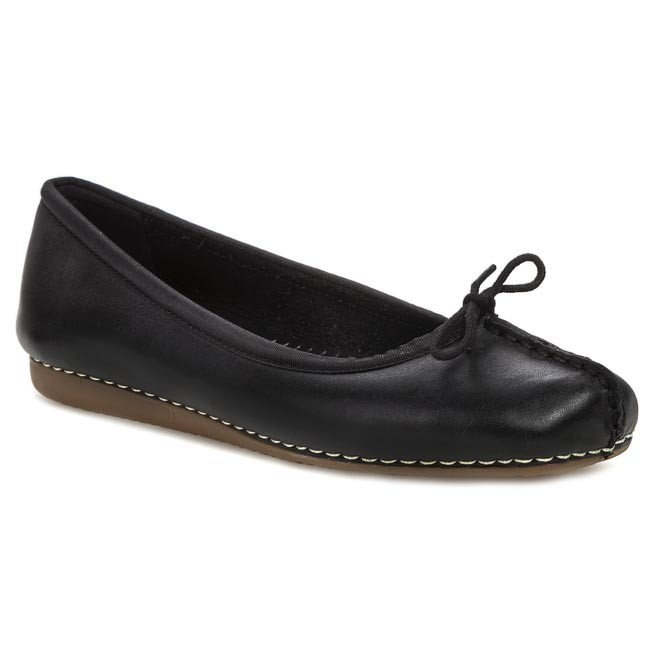 Baleriny CLARKS - Freckle Ice 203529294 Black Leather - Baleriny - Półbuty - Damskie