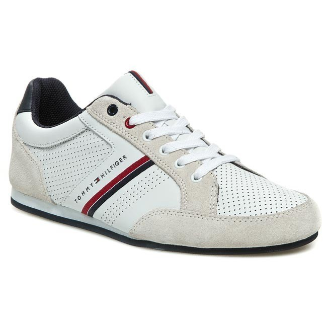 863287aad6667 Sneakersy TOMMY HILFIGER - FM56816982 White Ice 100 - Sneakersy ...