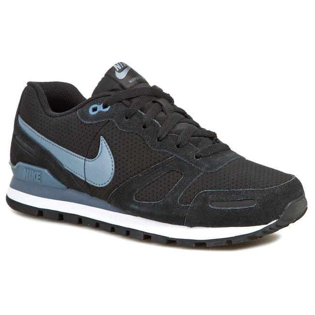 7a761a800a78 Buty NIKE - Air Waffle Trainer Leather 454395 049 Black Blue Graphite White
