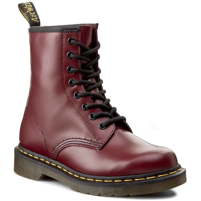 Glany DR. MARTENS - 1460 10072600 Cherry Red Smooth - Glany - Kozaki i inne - Damskie