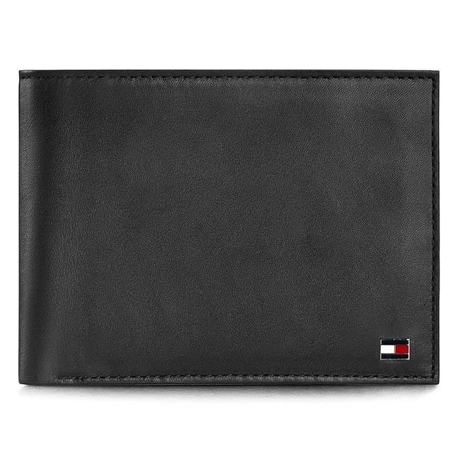 f6a8e3bbc6fed Duży Portfel Męski TOMMY HILFIGER - Eton Cc And Coin Pocket AM0AM00651  Black 002