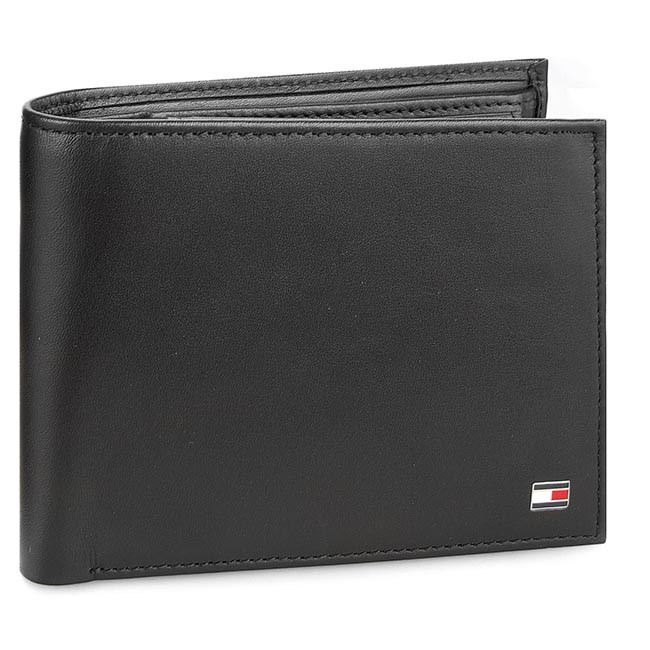 f5cc9e78aa1d2 Duży Portfel Męski TOMMY HILFIGER - Eton Cc Flap And Coin Pocket AM0AM00652  002