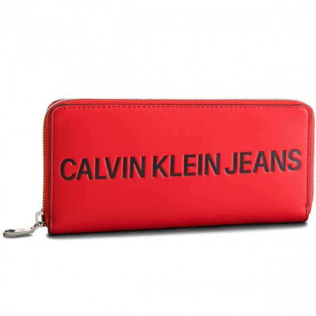 f4fb78f14e600 Duży Portfel Damski CALVIN KLEIN JEANS - Sculpted Zip Around ...