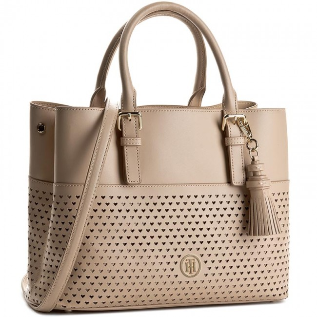 Torebka TOMMY HILFIGER - Summer Of Love Small Tote Perf AW0AW03939 Cuban  Sand 062 fd74e070cd5