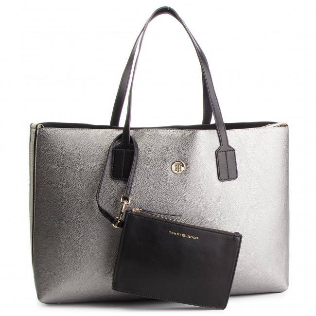 5bee722550a34 Torebka TOMMY HILFIGER - Cool Tommy Tote Met AW0AW06374 903 ...