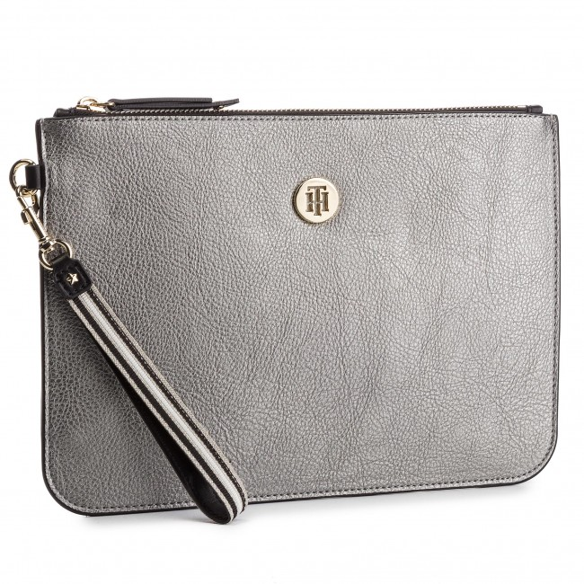 66dca66a31ef3 Torebka TOMMY HILFIGER - Cool Tommy Lrg Pouch Met AW0AW06378 903 ...