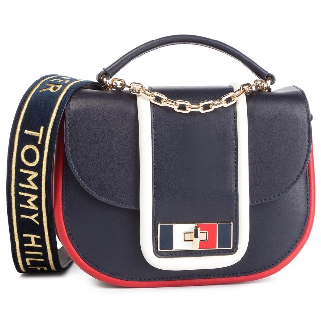 05fb890f39420 Torebka TOMMY HILFIGER - Fancy Th Leather Med Crossover AW0AW06119 ...