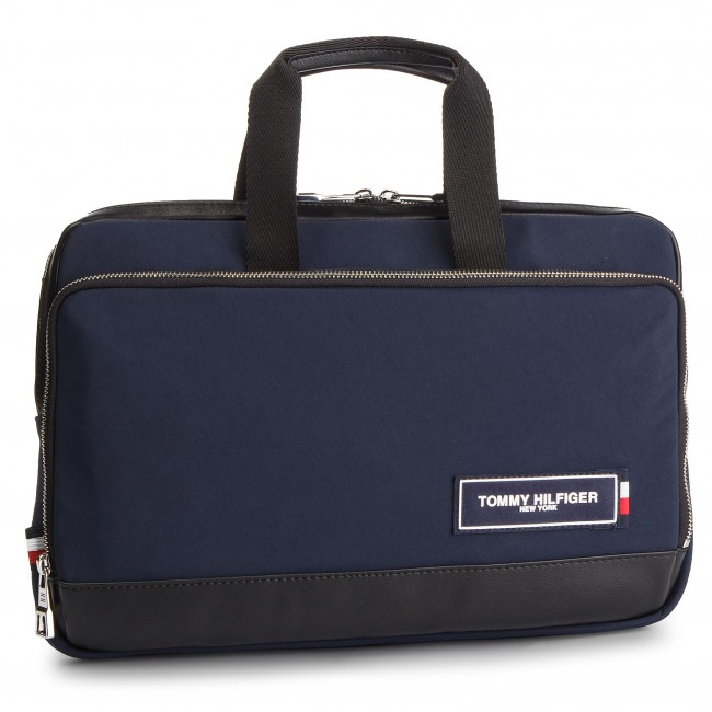 2fce42fed98b3 Torba na laptopa TOMMY HILFIGER - Th Patch Slim Computer Bag AM0AM04344 901