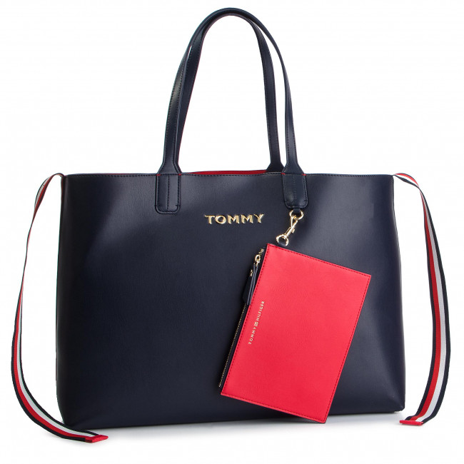 a1e6e819424d7 Torebka TOMMY HILFIGER - Iconic Tommy Tote AW0AW06446 901 ...