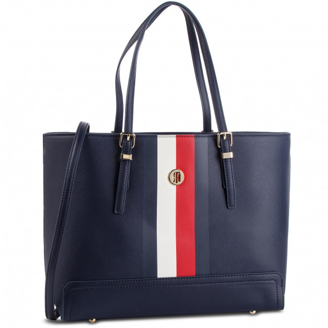e4b6b0f68164c Torebka TOMMY HILFIGER - Honey Med Tote Corp AW0AW06867 901 ...